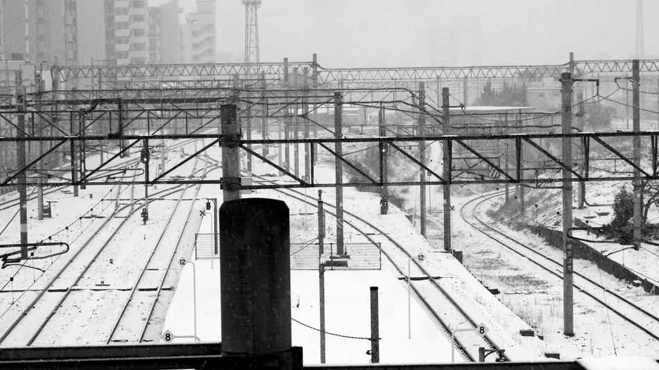 It's Cold Outside Rare Inmytown Snow Snowing Snow Day Station Railroad Monochrome Black & White Photographic Memory Blackandwhite Simple Photography From My Point Of View Nature