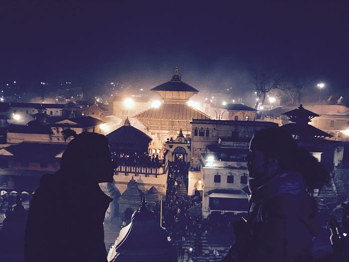 Welcome To Black No Edit/no Filter World Heritage Pashupatinath Temple Festival Season Shivratri Couple Watching Pashupatinath Temple Crowds Of People Enjoying The View Real People