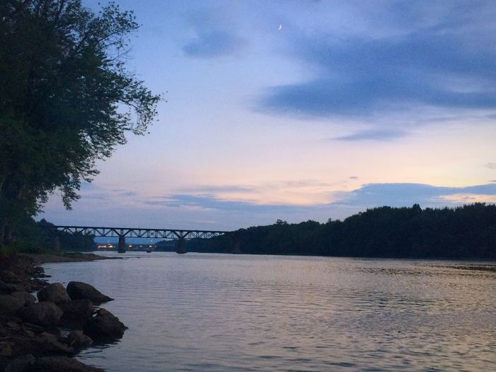 Sunset Night Time River View Nature Calm RebeccaShaver Capture The Moment