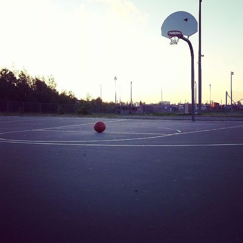 No matter where you are in life, what your going thru, feeling alone.. I know that I still got this & I realize this is what I live for Basketball Court♡♥