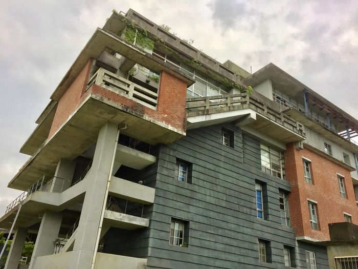 Architecture Brick House Built Structure Cloud - Sky Concrete Low Angle View Mixed Style No People