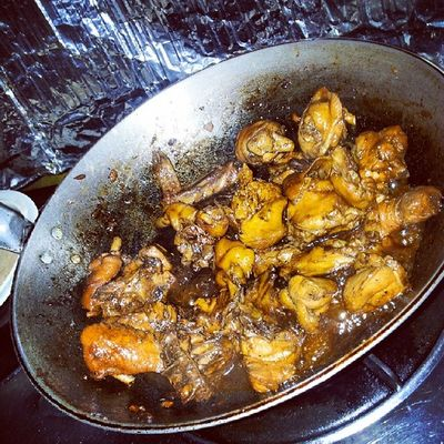 Cooking adobong manok with boyfie. ♥♥