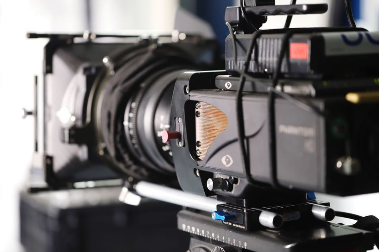 Digital cinema camera fully rigged Arts Culture And Entertainment Technology Camera - Photographic Equipment Recording Studio Photography Themes Communication Music Studio Filming Film Industry Photographic Equipment Media Equipment Broadcasting No People