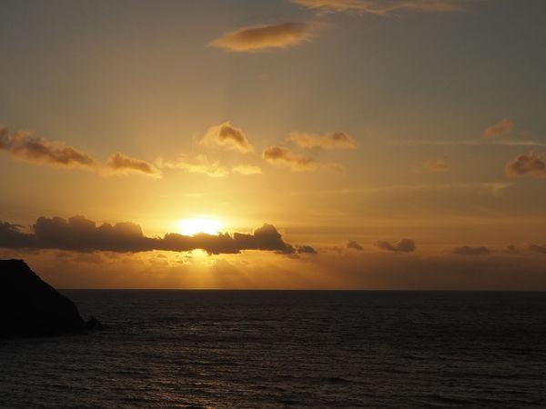 Golden Hope Cove Ocean Sunset  South Devon Beach Beauty In Nature Cloud - Sky Dusk Horizon Horizon Over Water Nature No People Outdoors Scenics Sea Silhouette Sky South Hams Sun Sundown Sunset Sunset Ocean Tranquil Scene Tranquility Water