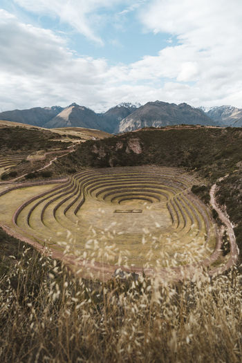 The wonderful circular terraces of Moray, Cusco Andes Andes Mountains Cusco Highland Inca Landscape_Collection Moray Peru Travel Photography Ancient Civilization Archaeology Circular Terraces Cloud - Sky Full Frame Inca Ruins Landscape Mountain Mountain Range No People Roadtrip Sky Tranquility Travel Travel Destinations Urubamba 10 The Traveler - 2018 EyeEm Awards It's About The Journey My Best Photo