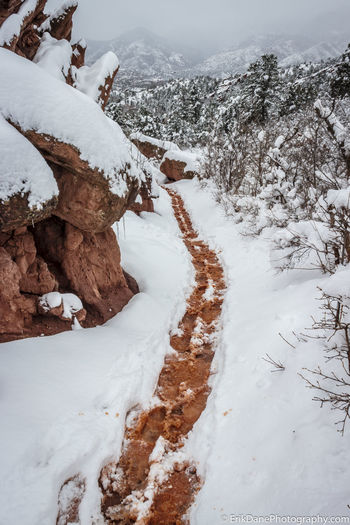 Perfect day for a hike and some photography. Embracethemoment Winterwonderland Tranquility Snowstorm Colorado Springs Colorado Gardenofthegods Hikingadventures Photography Dedication