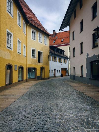 Narrow Street Along Buildings