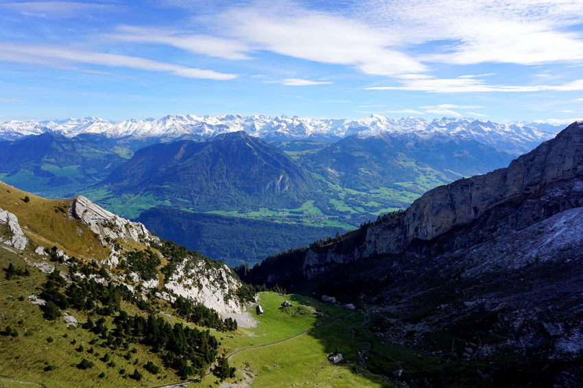 Lucerne Luzern Beauty In Nature Cloud - Sky Day Landscape Mountain Mountain Range Nature No People Outdoors Pilatus Range Scenery Scenics Sky Snow Switzerland Tranquil Scene Tranquility