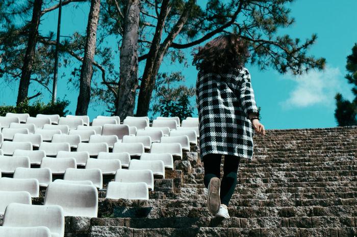 Runaway... Absence Abundance Chair Empty Eye4photography  EyeEm Best Shots Girl Hair In A Row Run Runaway Seat