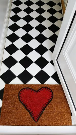 Doorway Entrance Coir Coir Matting Heart Retro Flooring Interior Design Diamonds Doormat Heart Stitch Doormat Welcome Home Home Is Where The Art Is Interior Style