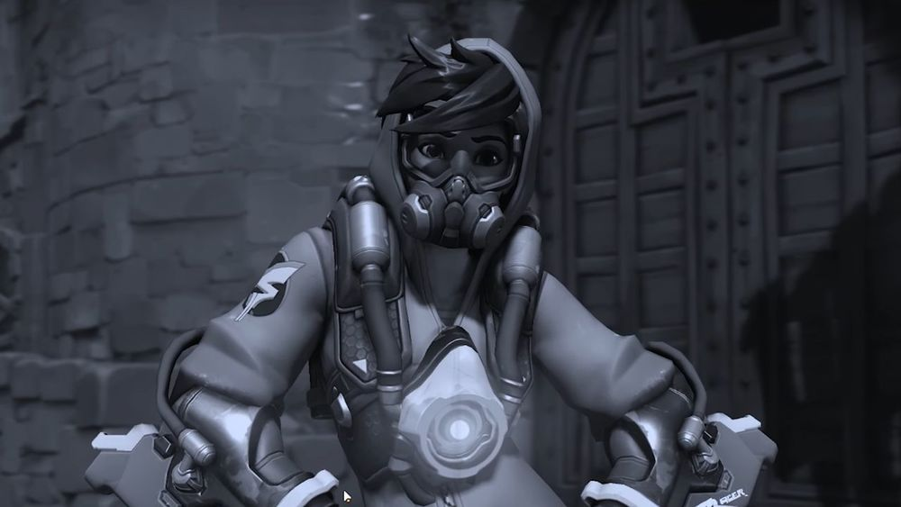 Overwatch Tracer Overwatch Videogames Video Game Screenshot Tracer Gas Mask