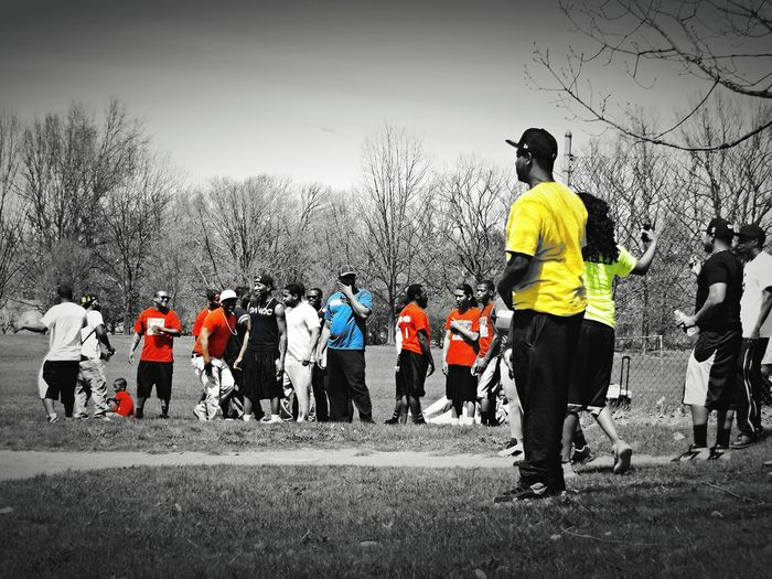 Black & White Colors TEAMS Fun Chill group kickball game ...GVP