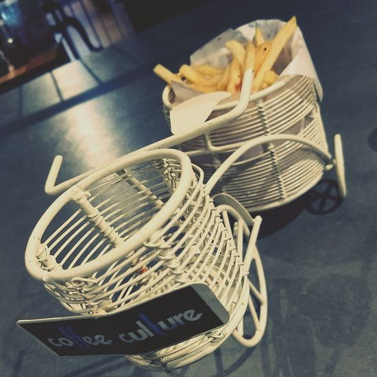 Cycle Carrying French Fries , Nightphotography Side View Love For Food 😍 Visual Feast