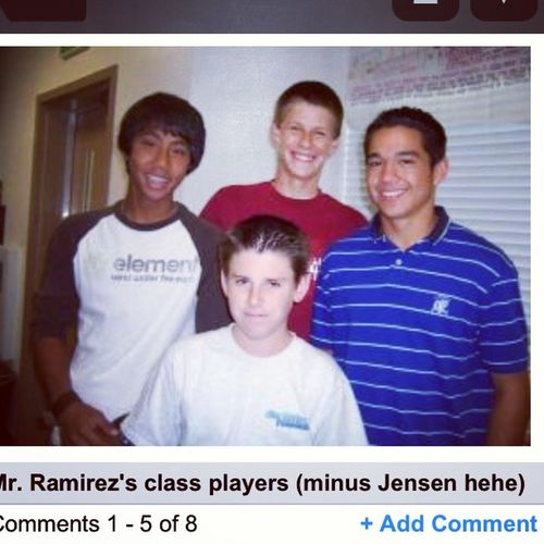 Found this gem on Myspace !! Who woulda thunk?!? Missionhills Highschool Freshmanhonors mrramirez swagperiod @royvt4 jensen battistoni