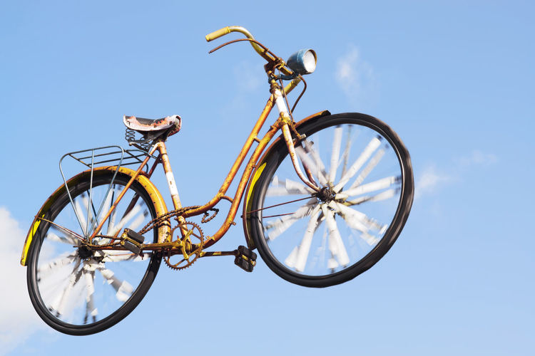 bike flying with blue sky , sweet dreams Antique Dreams Traffic Travel Bicycle Bicycles Bike Bikes Bird Bouyant Bycicle Cycling Floating Flying Flying In The Sky Pedal Seat Vintage