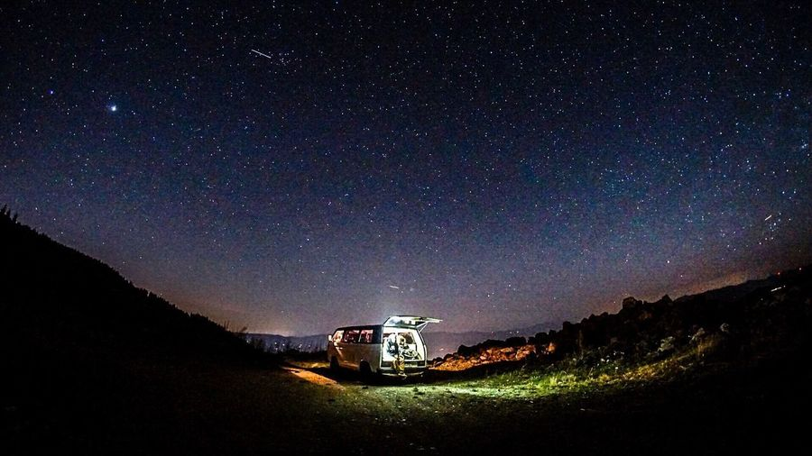 Star - Space Nature Night Astronomy Outdoors Buslife VwT3 Friends Roadtrip