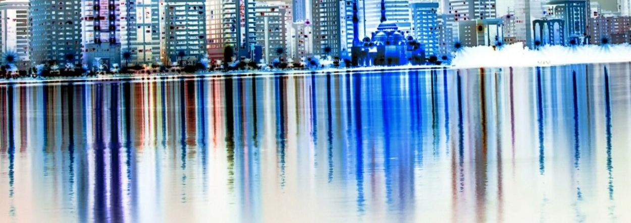 Encaustic water front Canadian Skyline. City Water Backgrounds Multi Colored Full Frame Blue Architecture Building Exterior Close-up Built Structure EyeEmNewHere This Is Masculinity Waterfront Light Trail Light Painting Fairy Lights Blurred
