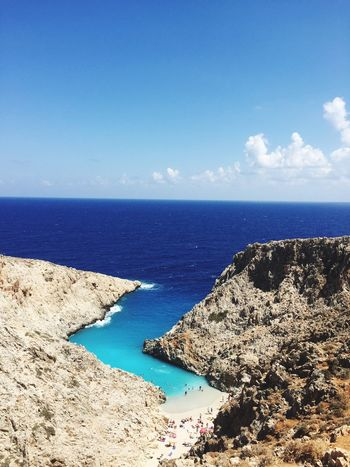 Sea Horizon Over Water Water Scenics Beauty In Nature Nature Sky Blue Tranquility Tranquil Scene Idyllic Beach Outdoors No People Sunlight Day Greece Crete Been There. Seitan Seitanlimania