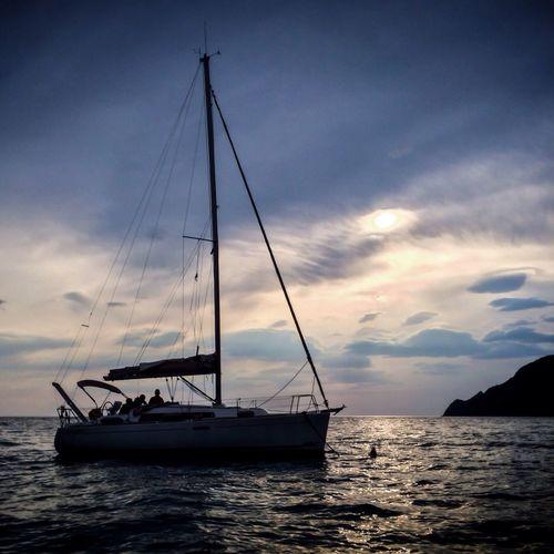 Sailing with Goletta Verde from Manarola back to Monterosso NEM Submissions NEM Landscapes NEM Clouds Going Sailing