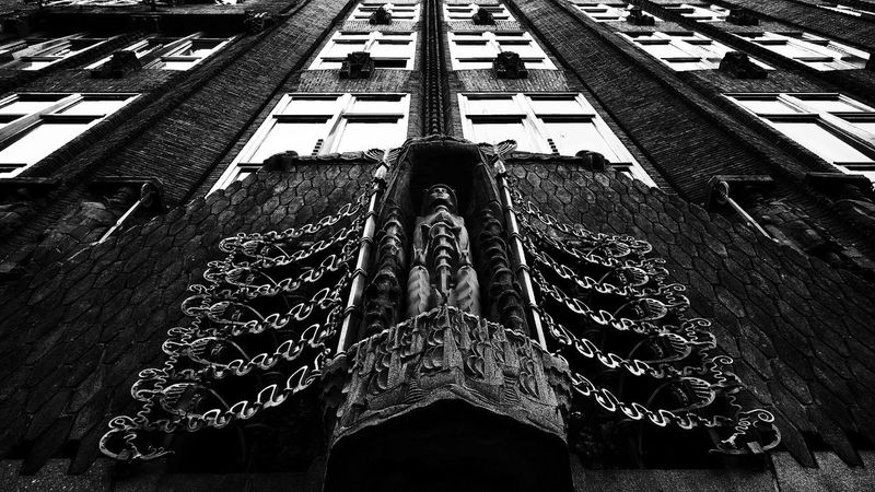 Big brother is watching you   Symmetrical Architecture in Black And White   Urban Geometry   Geometric Shapes