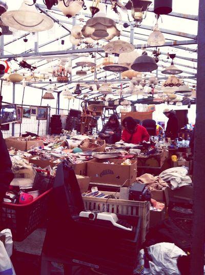 Berlin Flea Market. FREEZINGCOLD