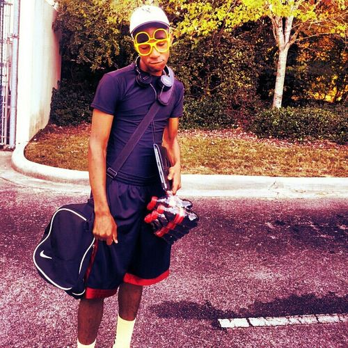 old pic about to go play ball #like,#bored,#hmu...