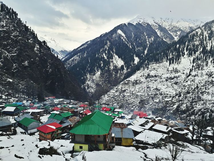 Mountain Snow Mountain Range Winter Outdoors Day Scenics Snowcapped Mountain Cloud - Sky No People Tree Nature Cold Temperature Beauty In Nature Sky Wilderness Vacations Trekking MALANA VILLAGE