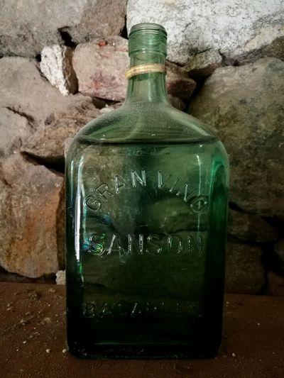 Relaxing Green Bottle Bottle Art Rock Wallofrock Rocks Botella Verde Aqua Water Waterbottle Hello World Blue 43Golden Moments 43GoldenMoments