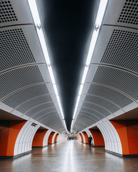 Architecture Built Structure Modern Ceiling Indoors  Transportation The Way Forward Futuristic Subway Station Eye4photography  EyeEmBestPics Architecturelovers EyeEm Gallery Eyeemphotography Full Length Architecturephotography Low Angle View