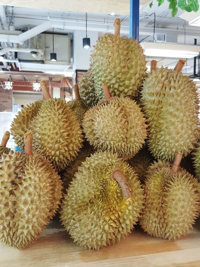 Tropical Fruit Durian No People Spiked Fruit Durian Stall Fruit Stall