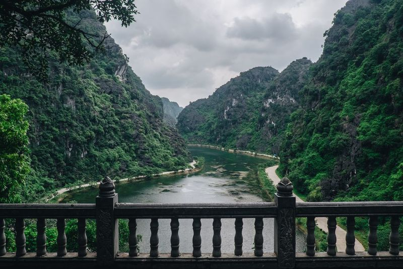 Viet Nam through camera Railing No People Water Cloud - Sky Green Color