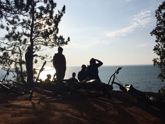 Morning coffee rides. Get Outside Michigan Lake Superior Great Lakes Superior
