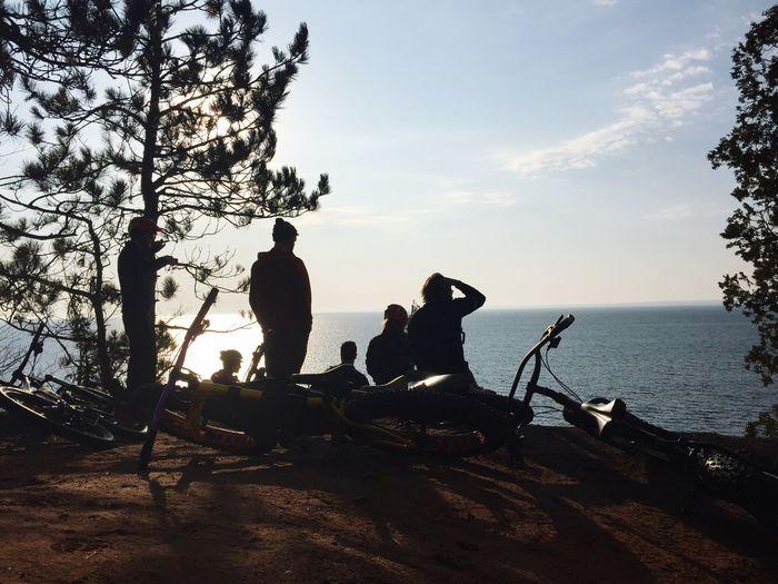 Morning coffee rides. Get Outside Michigan Lake Superior Great Lakes Superior