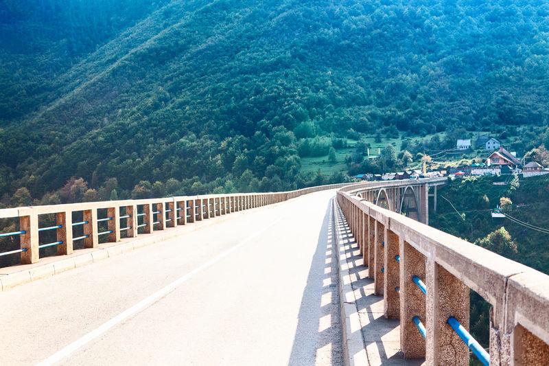 View of bridge on mountain