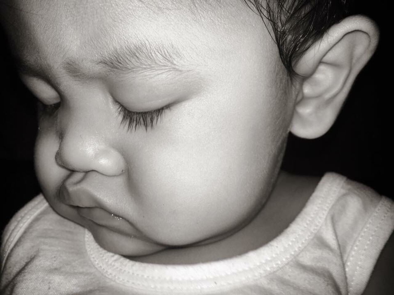 CLOSE-UP OF BABY GIRL