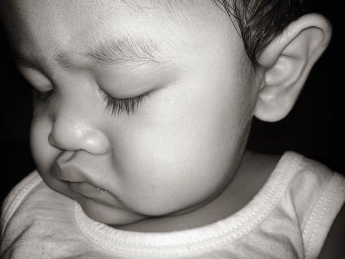 Close-up of cute baby girl