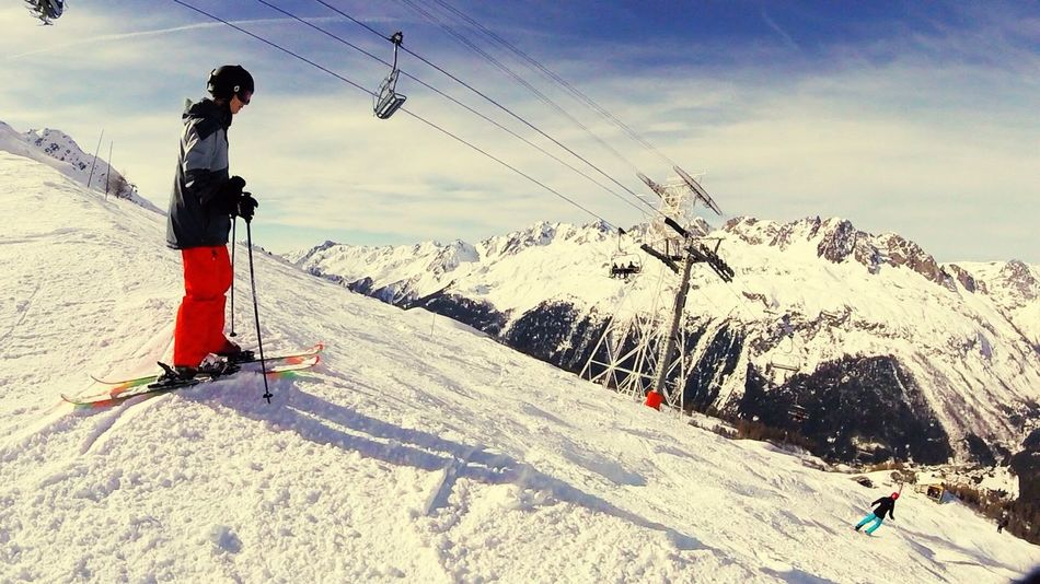 Skiing Chamonix-Mont-Blanc View 2016 Gopro Goprohero4 Cool Beautiful Argentiere IPhone Freestyle Snow Offpiste Swag White Tired Nice Day Marvellous Ski Chamonix France