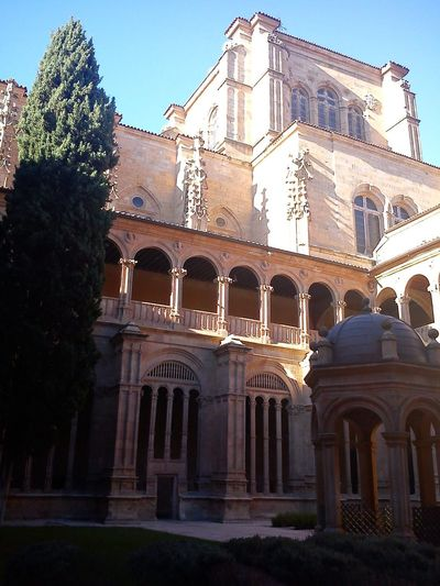Salamanca, Spain Building Exterior Architecture Built Structure Clear Sky History Travel Destinations Arch Tourism Architecture Day Traveling Home For The Holidays Arts Culture And Entertainment Cultures