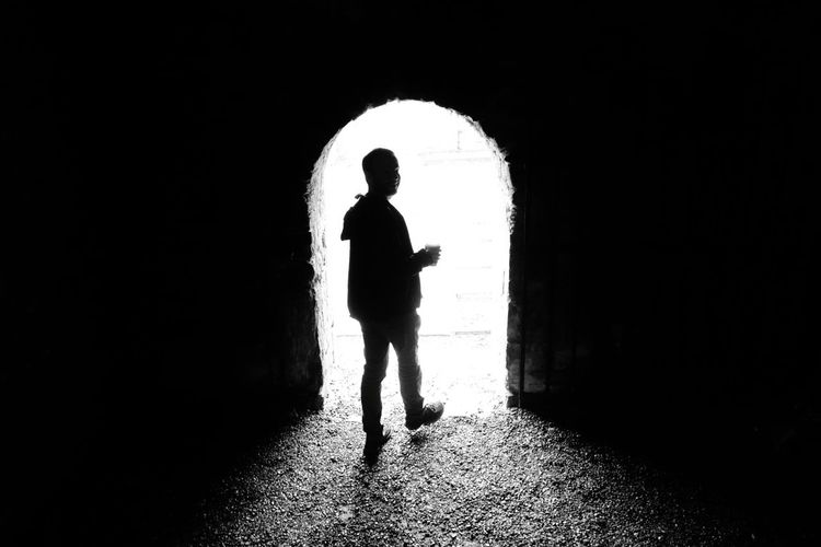 Shadow One Person Silhouette Adult Dark People Full Length One Man Only Men Only Men Outdoors Day Door Light Blackandwhite Lightattheendofthetunnel Galway,ireland Hope Light And Shadow Adventure Travel Destinations Travel EyeEmNewHere Welcome To Black