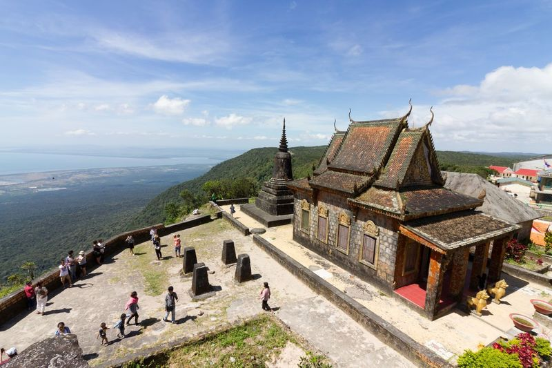 Ancient Civilization Architecture Bokor Mountain Buddhist Temple Built Structure Cambodia Cloud - Sky Day High Angle View History Mountain Place Of Worship Religion Sky Spirituality Temple Travel Destinations