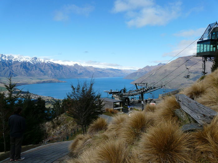Above Queenstown NZ Bluewater Crystal Clear Waters Gondola Lake Lake View Lake Wakatipu New Zealand Beauty New Zealand Scenery Pine Trees Queenstown Nz Snow Snowcapped Mountain South Island New Zealand Chairlift What A View