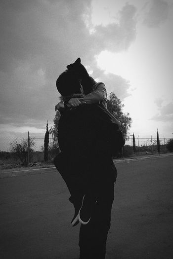 Adults Only One Woman Only Sky Only Women One Person Adult People Cloud - Sky One Young Woman Only Day Outdoors Standing Young Adult Women Oil Pump ParejaPerfecta Pareja De Enamorados Love Love To Take Photos ❤ First Eyeem Photo Nature Boyfriend Paisaje EyeEmNewHere Let's Go. Together.