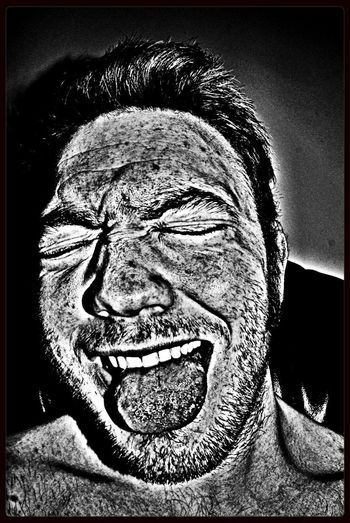 Crazy Face Feeling Crazy HDR Selfportrait Assumed Identity