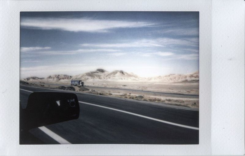 Everydayiran Everydayasia Iran Desert Fujimini90 Fujifilm Fuji Instant Travel Road Trip Mode Of Transport No People Day Journey Landscape Car Point Of View Dashboard Nature Scenics Outdoors