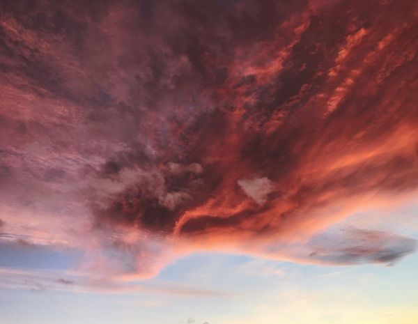 Art clouds Dramatic Sky Sunset Beauty In Nature Cloud - Sky Sky Nature Scenics Orange Color No People Backgrounds Sky Only Tranquil Scene Multi Colored Red Day Outdoors