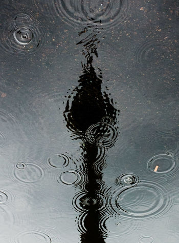 Fernsehturm Berlin  TV Tower Backgrounds Circle Concentric Drop Full Frame Geometric Shape Motion Nature No People Puddle Rain RainDrop Reflection Reflection_collection Rippled Splashing Water Wet