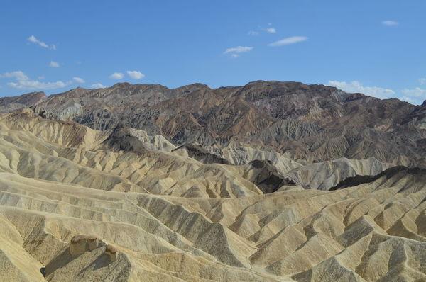 California Death Valley Death Valley National Park Desert Landscape Mountain No People Rocks View Zabriskie Point
