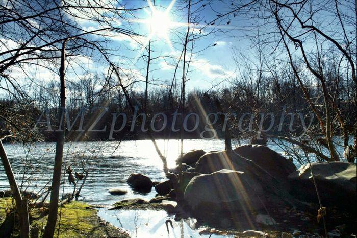 River Sun Landscape Canon Hello World Myhome