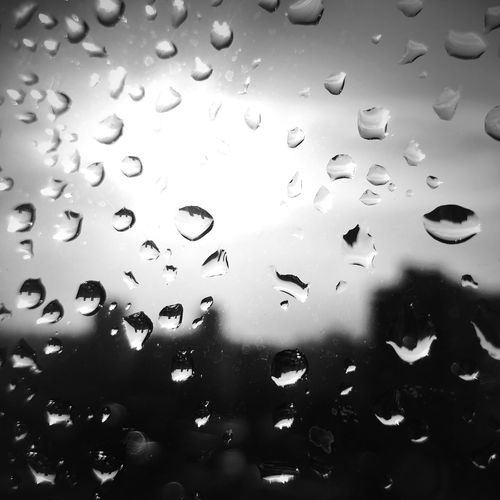 Drop Transparent Water Window Rain Day Full Frame No People Sky Backgrounds Cloud - Sky Nature Close-up RainDrop Indoors  First Eyeem Photo EyeEmNewHere