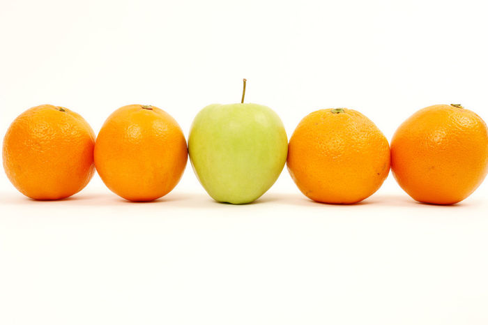 Close-up Day Discrimination Food Food And Drink Freshness Fruit Healthy Eating No People One Person Studio Shot White Background